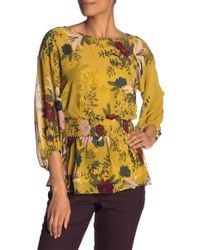 Vince Camuto - Smock Detail Balloon Sleeve Blouse - Lyst
