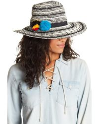 Hinge - Two-tone Twisted Panama Hat - Lyst