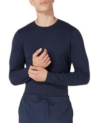 TOPMAN - Side Ribbed Slim Fit Sweater - Lyst