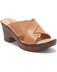 Born Coney Platform Sandal - Brown