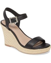 Charles David Loyalist Wedge Sandal - Black