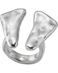 Uno De 50 O2 Hammered Open Ring - Metallic