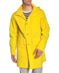 Tommy Hilfiger Lightweight Unlined Rain Trench Coat - Yellow