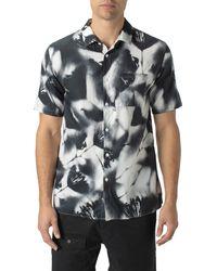 Zanerobe Mist Short Sleeve Button-up Shirt - Black