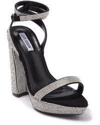 Cape Robbin Gianna Embellished Block Heel Sandal - Metallic