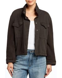 James Perse - Mixed Media Army Jacket - Lyst