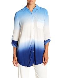 Green Dragon - Big Sur Dip Dyed Cover-up Boyfriend Shirt - Lyst