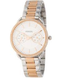Fossil - Women's Tailor Crystal Embellished Bracelet Watch, 35mm - Lyst