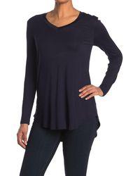Philosophy Apparel V-neck High/low Hem Shirt - Blue