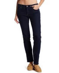 "Lands' End - Dark Denim Slim Pants - 26-34"" Inseam - Lyst"