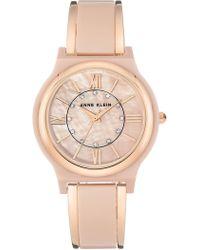 Anne Klein - Women's Crystal Bracelet Watch, 36mm - Lyst