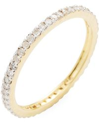 Adornia - 14k Yellow Gold Pave White Diamond Ring - 0.30 Ctw - Lyst