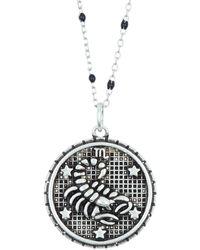 Argento Vivo Sterling Silver Scorpio Zodiac Necklace - Metallic
