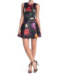 Alice + Olivia Stasia Floral Skater Party Dress - Multicolour