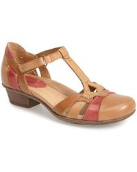 Earth - 'luck' Leather T-strap Closed Toe Pump (women) - Lyst