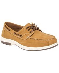 Deer Stags Mitch Slip-on Boat Shoe - Brown