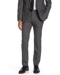 Original Penguin Slim Plaid Suit Separates Pant - Gray