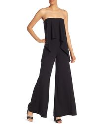 Go Couture Strapless Popover Jumpsuit - Black