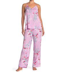 Josie Floral Print 2-piece Pajama Set - Pink