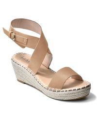 Nicole Miller Corbin Wrap Ankle Strap Espadrille Sandal - Multicolor