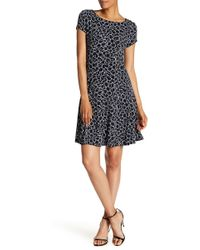 Connected Apparel - Geometric Flare Everyday Dress - Lyst
