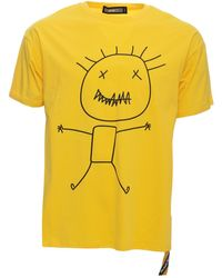 Xray Jeans Stick Man Relaxed Fit Graphic T-shirt - Yellow