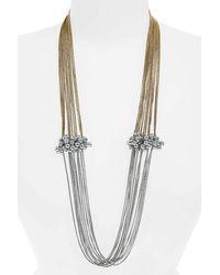 Shiraleah Serendipity Multistrand Necklace - Metallic