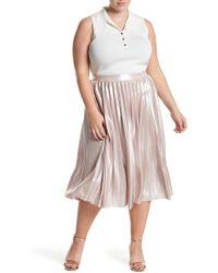 Rachel Roy Pleated Lame Skirt (plus Size) - Multicolor