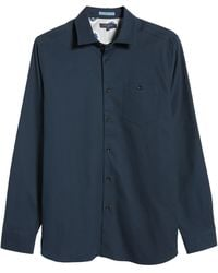 Ted Baker Footag Button-up Shirt - Blue