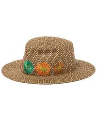 Eric Javits Zanzibar Water Repellent Hat - Brown