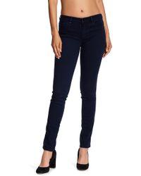 BOSS - Nevila Mid Rise Straight Leg Jeans - Lyst