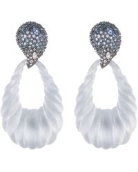 Alexis Bittar Ombre Crystal Paisley Rope Twist Drop Earrings - Gray