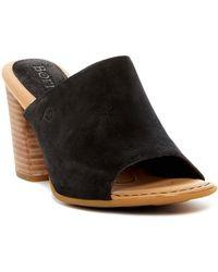 Born - Bima Leather Block Heel Mule - Lyst