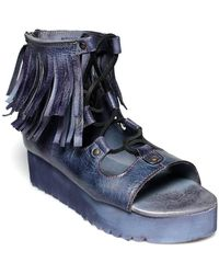 Bed Stu - Madison Fringe Platform Sandal - Lyst
