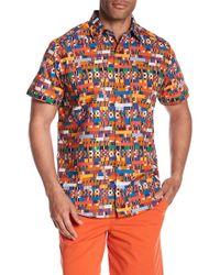 Robert Graham - Friess Short Sleeve Print Woven Classic Fit Shirt - Lyst