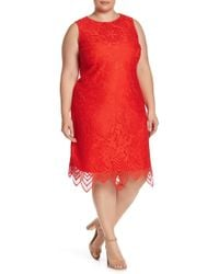 Sharagano Scallop Lace Tank Dress (plus Size) in Pink - Save 41% - Lyst