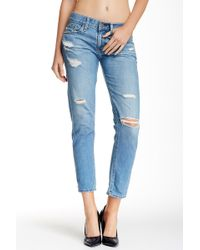 AG Jeans Nikki Deconstructed Relaxed Skinny Crop Jeans - Blue