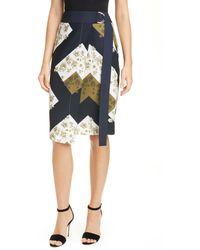 Ted Baker Saphirr Floral Print Wrap Skirt - Multicolor
