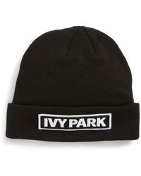 Ivy Park - (r) Embroidered Patch Beanie - Lyst