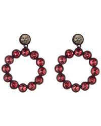 Trina Turk - Rhinestone Hoop Earrings - Lyst