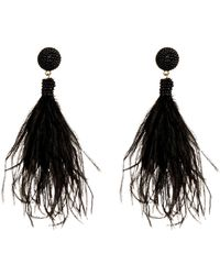 Suzanna Dai - Bead Detail Feather Drop Earrings - Lyst
