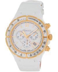 Versace - Women's Helix Leather Strap Watch - Lyst