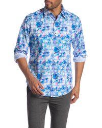 Robert Graham Bow Line Long Sleeve Classic Fit Shirt - Blue
