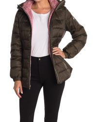 Kate Spade Hooded Mid-weight Zip Down Puffer Jacket - Multicolour