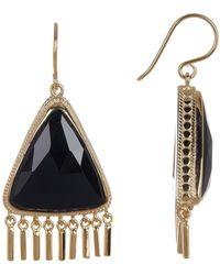 Anna Beck - Gold Plated Black Onyx Fringe Earrings - Lyst