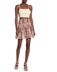 Rebecca Minkoff Tropical Print Smocked Ruffle Skirt - Multicolor