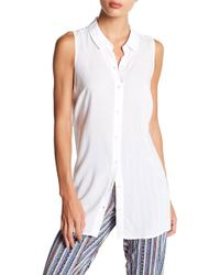 BCBGeneration - Tie Back Button Down Tank - Lyst