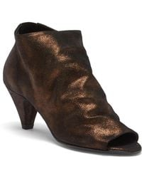 H by Hudson - Goa Peep Toe Suede Bootie - Lyst