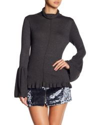 Haute Rogue - Bell Sleeve Turtleneck Sweater - Lyst