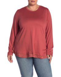 Bobeau - Satin Bow Long Sleeve Pullover (plus Size) - Lyst
